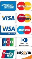 Payment by credit / debit cards